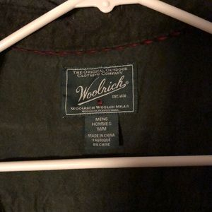 Large Woolrich Forest Green button up